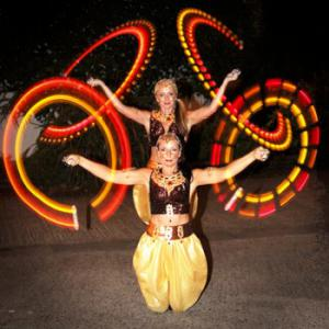 Glow poi from glow hula hoop and poi act- click for video.