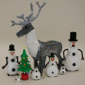 Christmas figures in Lego