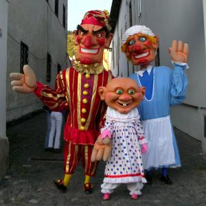 Giant Punch and Judy Puppets