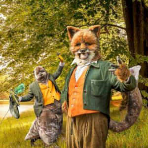 Otter and Fox story theme street theatre act