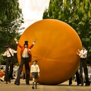 James and The Giant peach inspired street theatre act