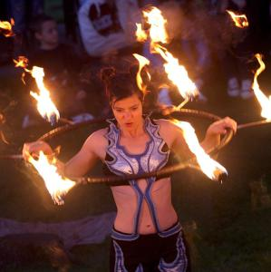 Fire Hoop from Spectacular Fire Show- click for demo video