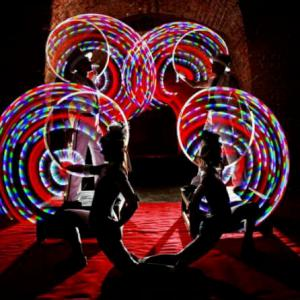 Four person spectacular glow show - click for demo video