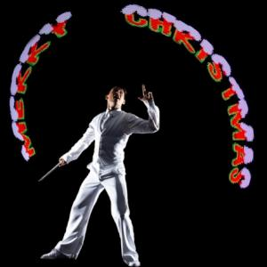 Freestyle Pixel Poi performer for Christmas events