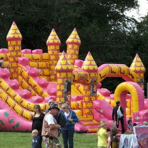 Inflatables for family fun days