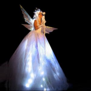 Glowing Ice Fairy (white lights)