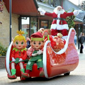 Santa's Arrival in an electric sleigh