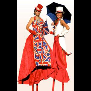 Red White and Blue Stilt Walkers