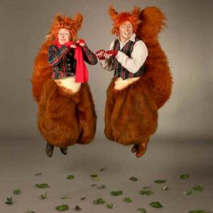 Dancing red Squirrels