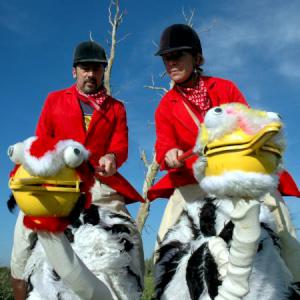 Ostriches and Riders street theatre act