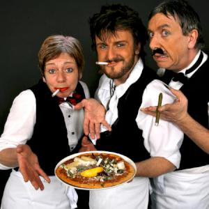 Comedy singing Waiters for street festivals and town centres