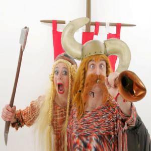 Comedy Vikings street theatre act.