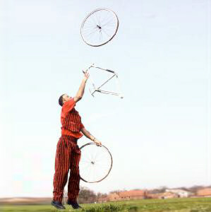 Bicycle Juggler