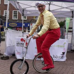 Comedy Bicycle act
