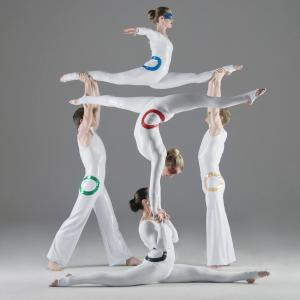 Olympic themed acrobalance show