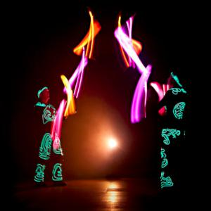 Two Man Glow juggling from glow show