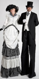 Edwardian/Victorian stilt couple
